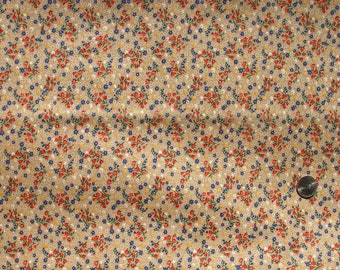 Vintage cotton calico for quilting from the 1970s.