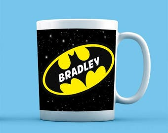 Batman Inspired Mug - Personalised