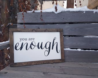 You are Enough Rustic Sign, Rustic Decor, Rustic Home Decor, Home Decor, You are Enough