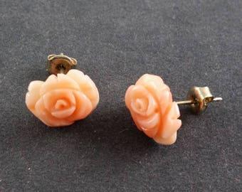 Agen Skin Coral Earrings Yellow Gold 585, 2.46gr.