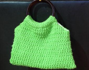Green Knit handbag