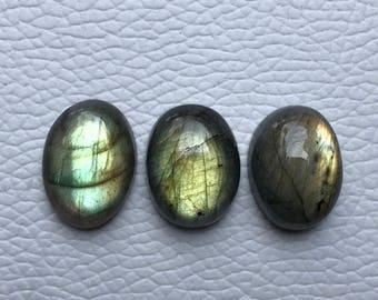 3 Pcs Labradorite Gemstone Oval Shape Gemstone loose Unique Color Labradorite Jewelry Gemstone Hand Polished43.Ctr