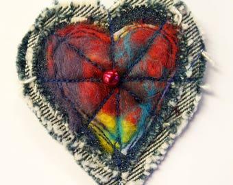 Valentine/heart brooch