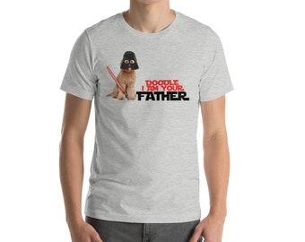 Doodle Father - Short-Sleeve Unisex T-Shirt - Star Wars themed GoldenDoodle, LabraDoodle, Bernedoodle Dad, Golden Doodle