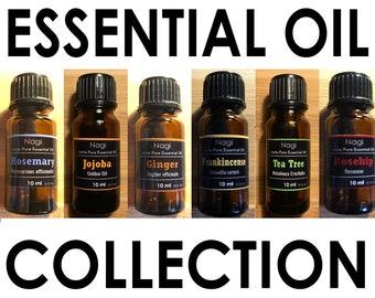 Essential Oils Set of 6 Rosemary,Jojoba,Ginger,Frankincense,Teatree,Rosehip Great Gift
