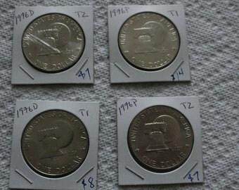 4 Eisenhower 1976 dollar coins