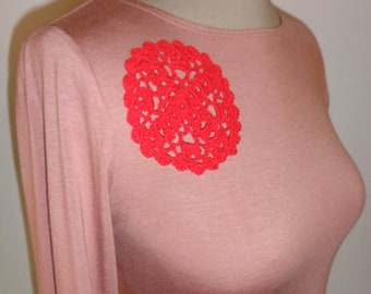 Bamboo top with crochet detail