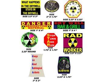 Nuke Worker Stickers, pack of 10 best sellers N bndl-1