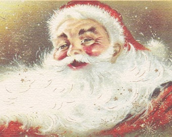 1960s Christmas card with Santa theme, by Carrington
