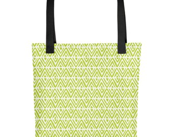 Loud Lime Punch Diamond Tote Bag