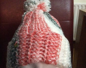 Hand crochet Pom Pom hat