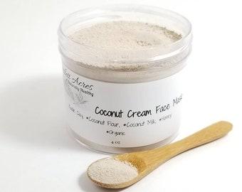 Coconut Cream Face Mask, hydrating face mask, soothing face mask.