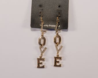 Ideal Valentines Gift - a Pair of Vintage Love motif earrings 1980s/1990s