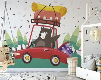 Wallpaper for kids Happy Bear