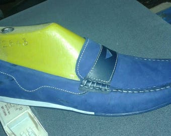 Men's shoes made of good leather bleu color All occasions best choice in spring