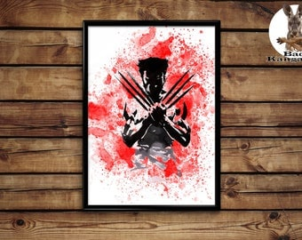 Wolverine print Wolverine poster wall art home decor