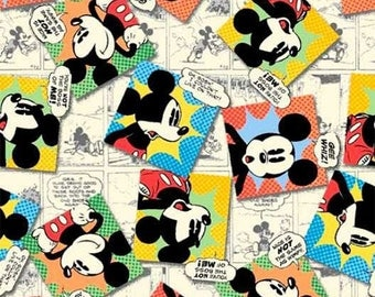 Mickey Mouse fabric by the yard disney fabric mickey prints cotton licensed fabric mickey mouse cartoon fabric disney cotton by the yard