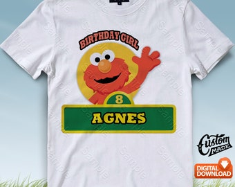 Sesame Street Iron On Transfer, Sesame Street Birthday Shirt, Sesame Street Shirt, Sesame Street Birthday, Personalize, Digital Files