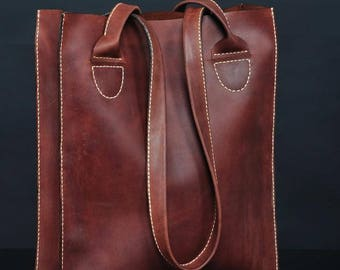 Shopper leather brown