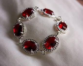 Fianite Bracelet, Crystal Bracelet , Wedding Jewelry