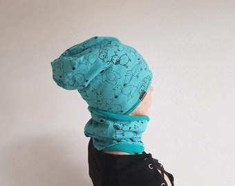 Hat and neck warmer-child/adult