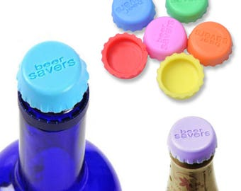 6Pcs Lovely Beer Bottle Silicon Caps Saver Cover Reusable Stopper Lid