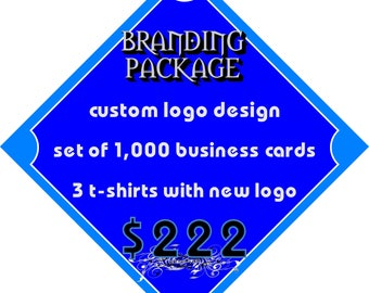 BRANDING PACKAGE- Logo , Business Cards & T-Shirts