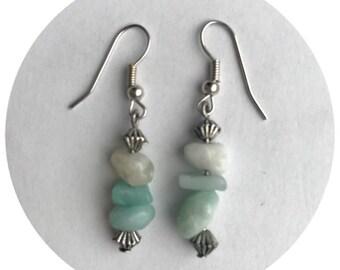 Beautiful gemstone drop earrings