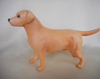 Beswick Labrador Dog ~ golden yellow - matt finish .