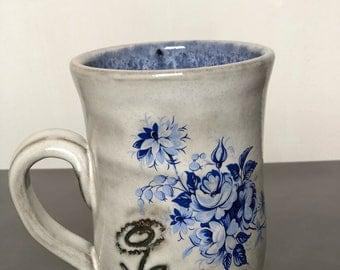 Vintage Blue Vegan Mug