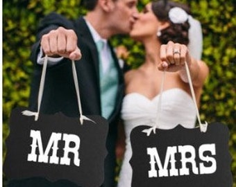 Mr and Mrs wedding prop