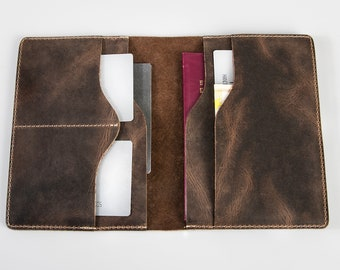 Leather passport wallet,passport wallet,leather wallet,handmade passport wallet,mens passport wallet,leather bifold wallet