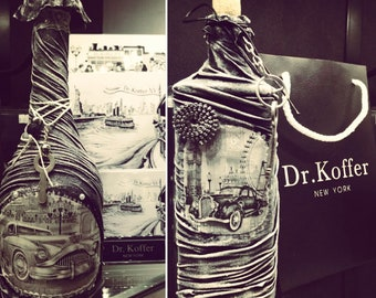 Decorative bottles for interior design.