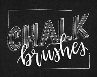 10 Chalk Brushes for Procreate