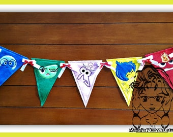 BANNeR EMoTIONS Set of 5 Motif Edge 4 Birthday PeNNANT ~ In the Hoop ~ Downloadable DiGiTaL Machine Embroidery Design by Carrie
