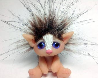 "OOAK Adorable Hedgehog Trollfling Troll doll ""Madge"" by Amber Matthies"