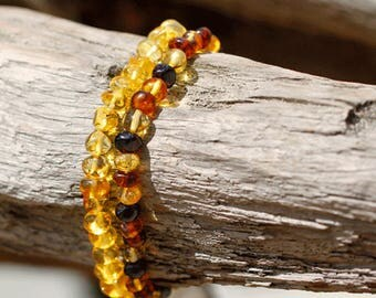 Gemstone bracelet for women / Gemstone bracelet / Amber Bracelet for women / Baltic Amber bracelet / Layered bracelet / Amber gemstone