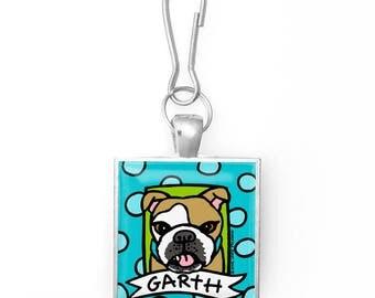 Your Pet Portrait on a Zipper Pull