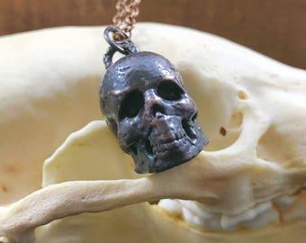 Memento - Hand Sculpted Electroformed Copper Skull