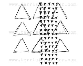 NEW DESIGN Thermofax Screen - Layered Triangles