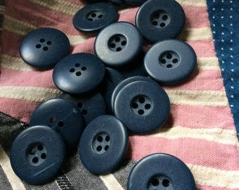 navy blue vintage buttons,new old stock, vintage seventies, dark blue,22 classic navy buttons, eco friendly choice, unused vintage,deep blue