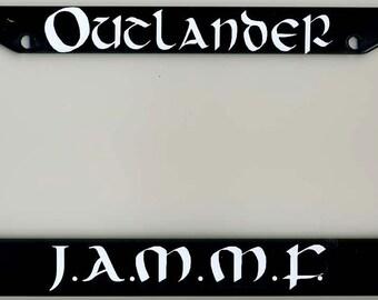 Outlander Themed License Plate Frame