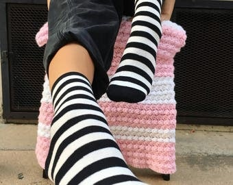 Striped pirate grrrl socks
