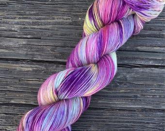 Ready To Ship - OOAK - 75/25 SW Merino, Nylon - Sock Yarn - Fingering Yarn - Variegated Yarn - Speckled Yarn - Lagniappe Sock