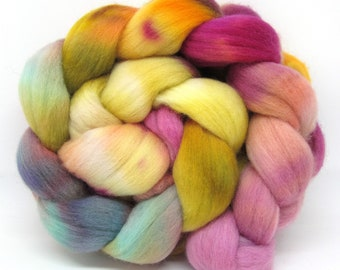 Merino Wool Hand Dyed Fine Combed Top 21 Micron 100gms - FM61