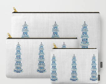 CHINOISERIE PAGODA POUCH/Ipad case
