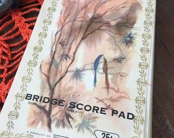 Vintage Bridge Score Book Blank Game Dinner Party Book