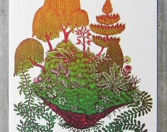 Clod - Woodcut Print, Woodblock Print by Tugboat Printshop