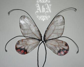 Fairy Wings - Gray Butterfly wings GR1 -  For OOAK Art Dolls