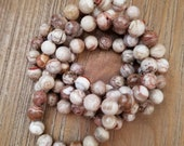 Mexican Crazy Lace Agate Knotted Necklace